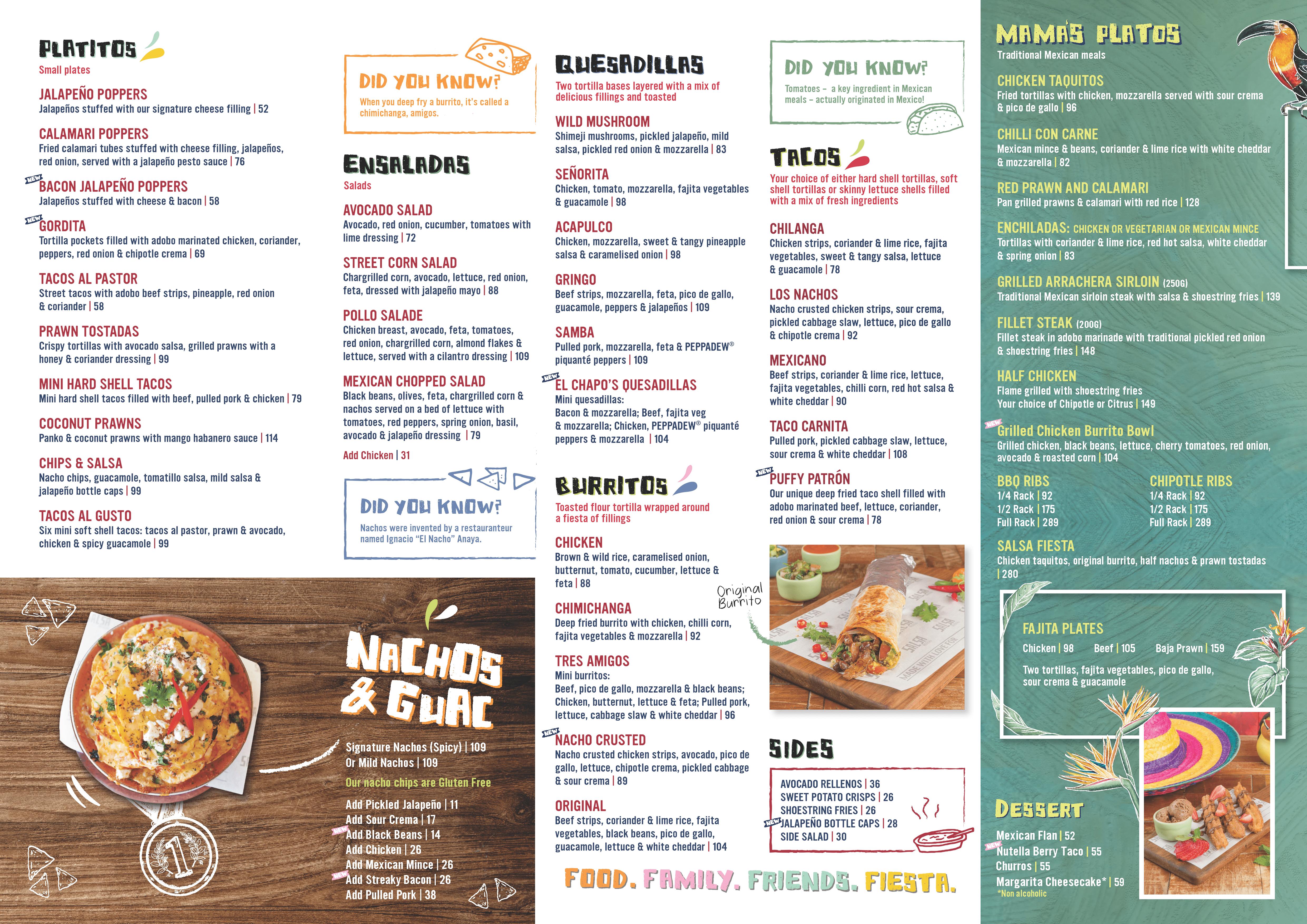 Food menu - 23-10-2019
